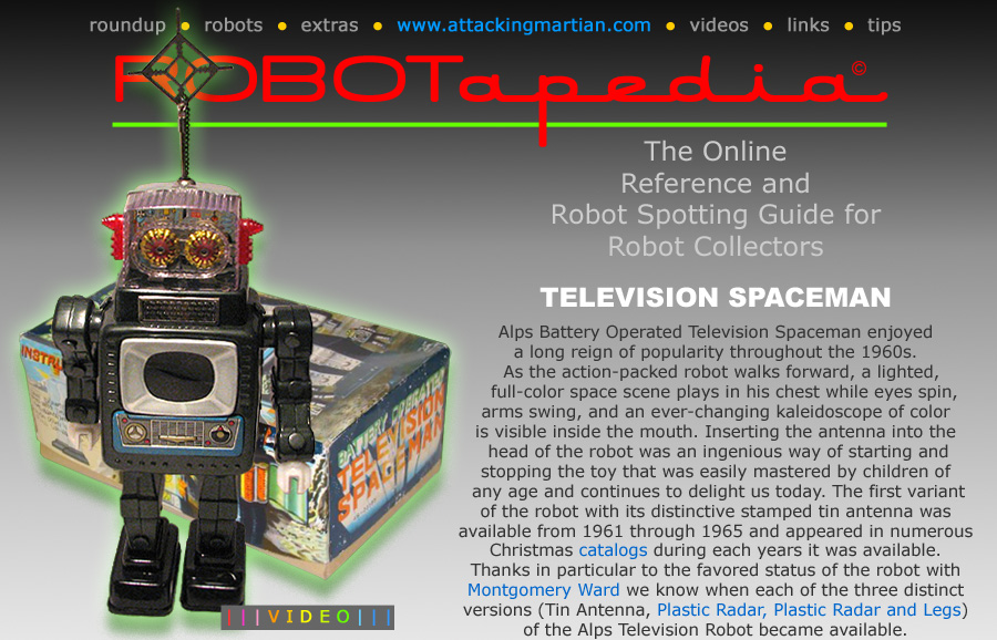 Alps Television Spaceman Robot