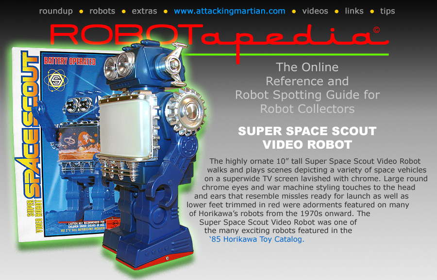 Horikawa Super Space Scout Video  Robot