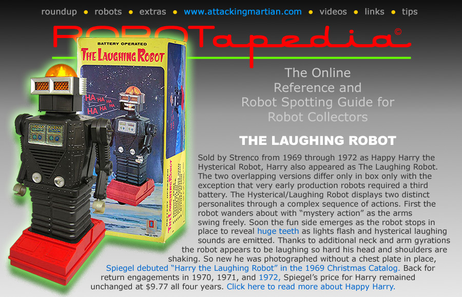 Straco Happy Harry Laughing Hysterical Robot