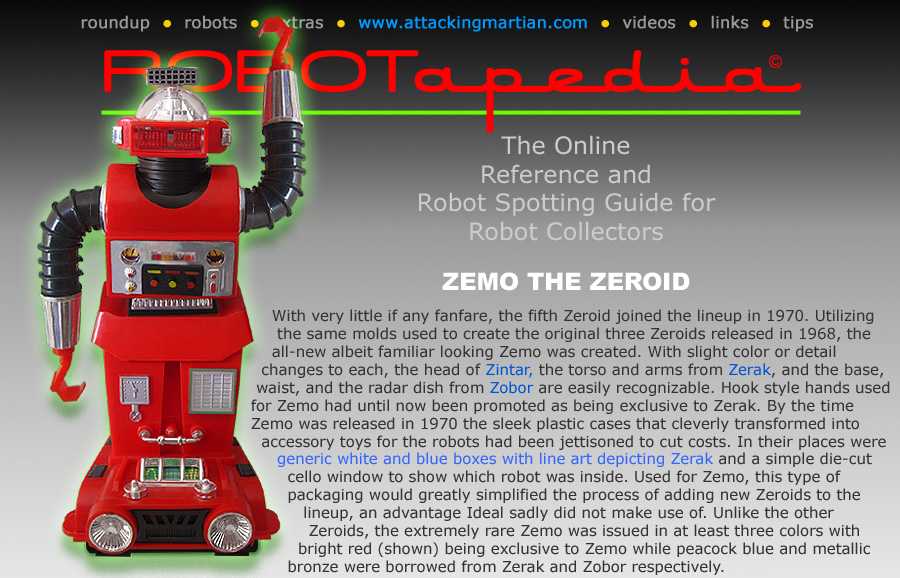 Ideal Toy Company Zeroids Zemo