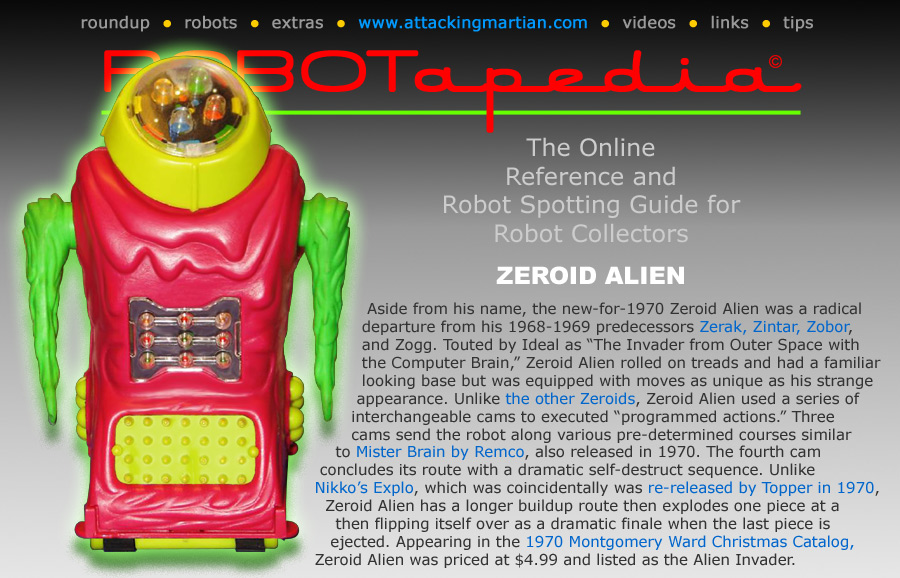 Ideal Toy Company Zeroids Zobor
